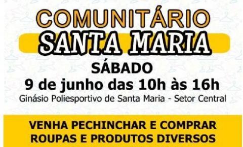 Neste sábado (9 de junho) tem o Brechó Comunitário de Santa Maria
