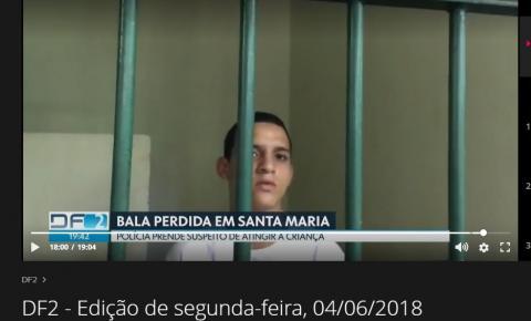 Preso suspeito de balear menina de três anos em Santa Maria