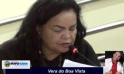 Vereadora Vera do Boa Vista, cobra agilidade na analise do processo de cassação do Vereador Christovam Machado
