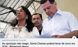 Eleição 2020. Oposição reconhece Sônia Chaves como favorita.