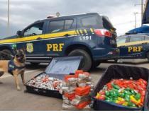Homem é preso com 70kg de maconha em malas no Recanto das Emas
