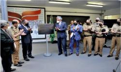 Caiado destaca qualidade do ensino da Faculdade da Polícia Militar ao participar de inauguração de câmpus