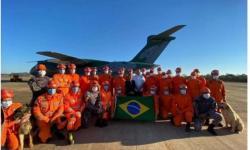 Missão Humanitária brasileira com 32 bombeiros embarca com destino ao Haiti