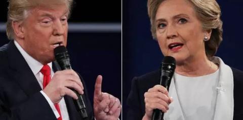 Debate entre Trump e Hillary vira lavação de roupa suja