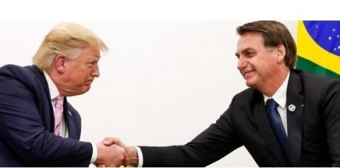 Trump e Bolsonaro se encontram em Palm Beach