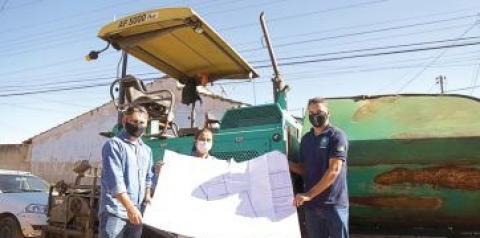 Sônia Chaves inicia a pavimentação asfáltica do setor Minas Gerais