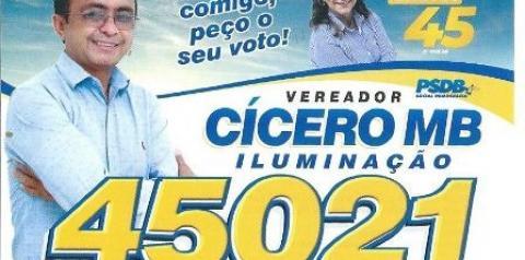 Se eleito for, CÍCERO MB  vai representar o povo com responsabilidade humildade e honra