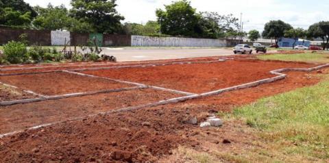 Praça de convivência da Qr 208 de Santa Maria começa a tomar forma