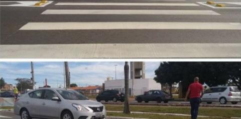 Nova Faixa de Pedestres no BRT de Santa Maria