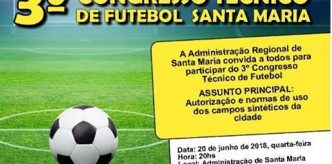 Administração realizará 3º Congresso Técnico com dirigentes esportivos de Santa Maria