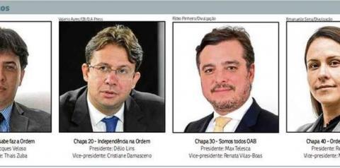 Quatro candidatos disputam o comando da OAB no Distrito Federal