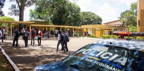 Polícia reforça segurança nas escolas temendo atentados