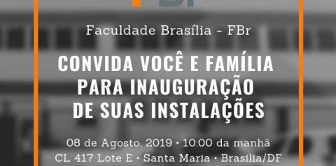 Faculdade Brasília inaugura Unidade em Santa Maria-DF