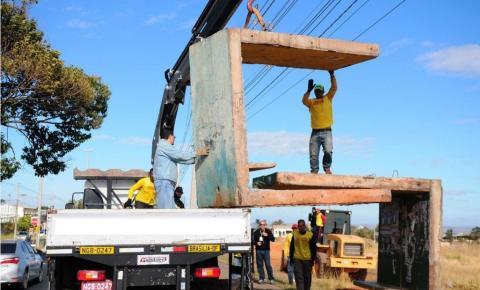 GDF instala 13 novos abrigos em paradas de ônibus de Santa Maria