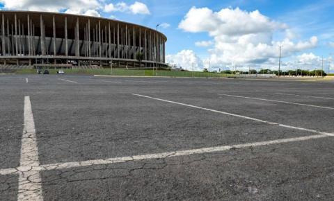 Mané Garrincha: começa demarcação para cobrança de estacionamento
