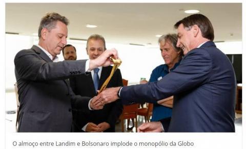 Flamengo sugere. E Bolsonaro acaba com o monopólio da Globo
