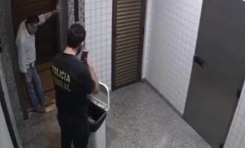 Vídeo: conselheiro do TCE-MT preso tenta fugir de agente e se dá mal