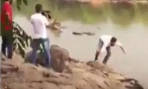 Viralizou: candidato cai em rio durante gravação de propaganda eleitoral