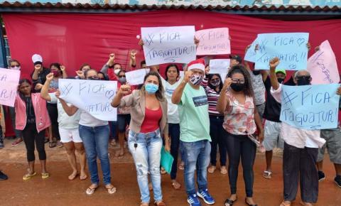 Manifestação pela permanência da Taguatur na linha interestadual.