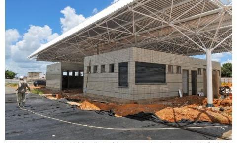 Obras do terminal de Santa Maria estão 60% prontas
