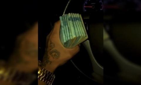 Vídeo: traficante ligado ao Comando Vermelho ostenta maços de dinheiro, jet ski e carros de luxo
