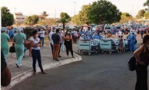 Pacientes são evacuados após incêndio atingir hospital em Santa Maria