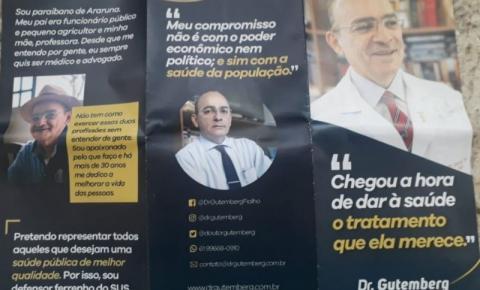 MÉDICO SINDICALISTA FAZ CAMPANHA ANTECIPADA.