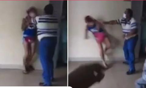 Vídeo: durante confusão, porteiro de hospital agride mulher em Goiás