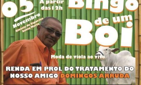 Bingo de um boi em prol do tratamento de câncer do Domingos Arruda