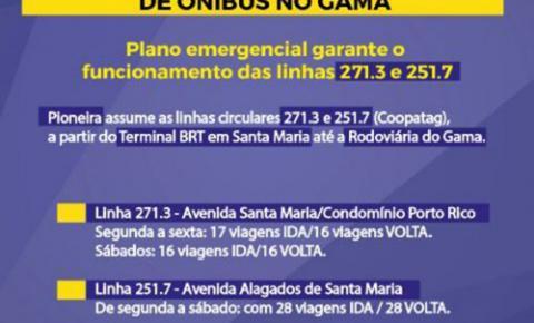 Linha de ônibus [Santa Maria - Gama] agora passará por dentro do residencial Ribeirão