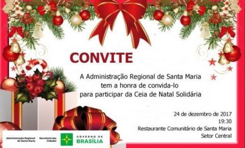 Administração realizará Ceia de Natal para famílias carentes de Santa Maria