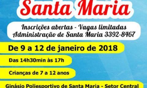 Administração realizará Colônia de Férias para Crianças de Santa Maria