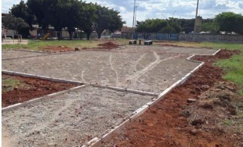 Obras da praça da Qr 103 de Santa Maria beneficiará comunidade e estudantes