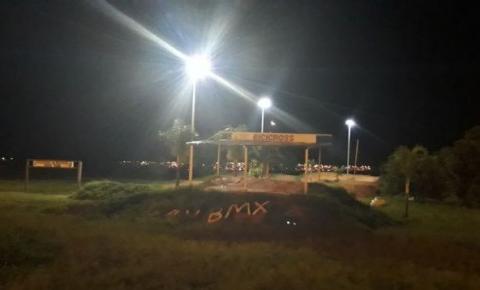 Iluminação da pista de bicicross de Santa Maria já está funcionando