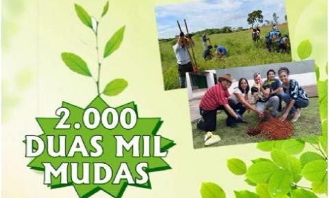 Grande mutirão para o plantio de duas mil mudas de árvore no Parque Ecológico de Santa Maria