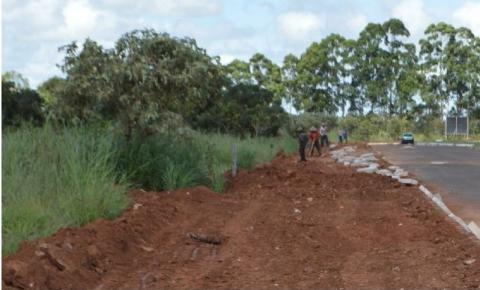 Obras do Calçadão do Parque Ecológico de Santa Maria em ritmo acelerado