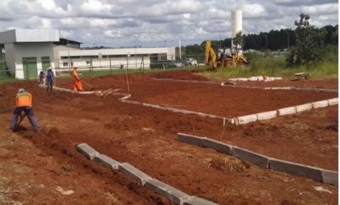 Administração inicia a instalação das bases de PEC e Academias Populares no Parque Ecológico de Santa Maria