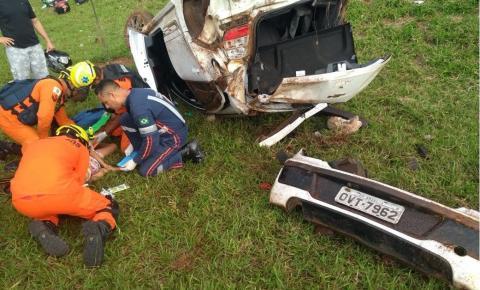 Quatro crianças ficam feridas após acidente na pista que liga Santa Maria ao Gama