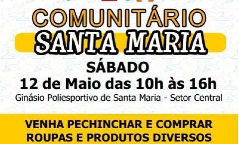 Neste sábado (12 de maio) tem o Brechó Comunitário de Santa Maria