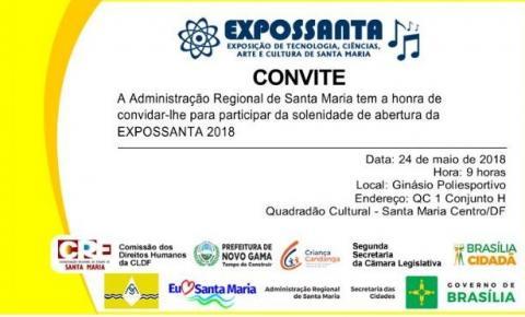 Convite para Abertura da EXPOSSANTA 2018
