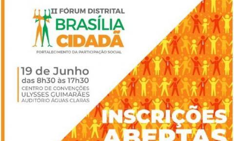 Vem aí o II Fórum Brasília Cidadã: inscreva-se!