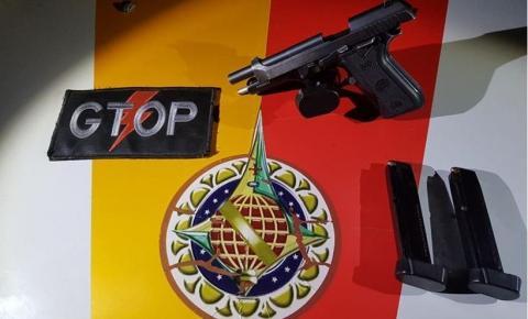 Falso policial civil de Goiás é preso com pistola .380 em abordagem da PM