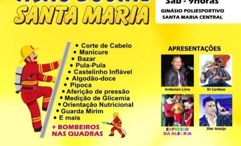 Ação Social Santa Maria no Ginásio Poliesportivo do Setor Central.