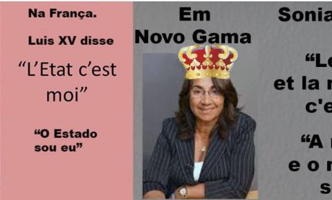 Prefeita Sônia Chaves joga os vereadores e a Câmara Municipal de Novo Gama na lata do lixo.