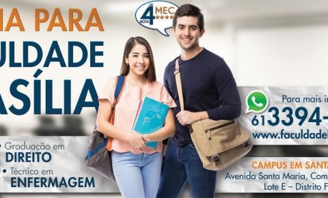FACULDADE BRASILIA, será inaugurada no próximo dia 8 de agosto