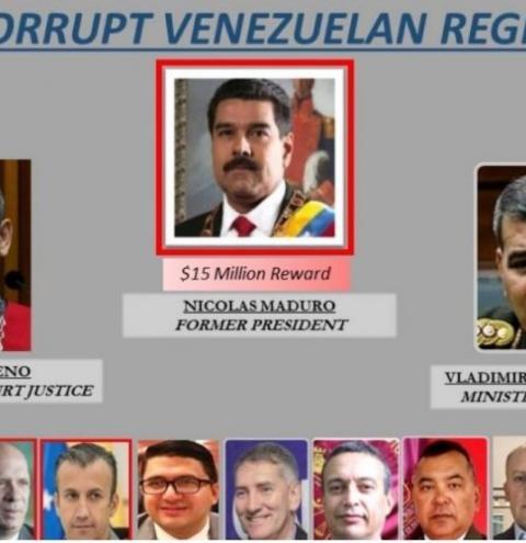 EUA oferece recompensa de US$15 mi por Nicolás Maduro, acusado de narcoterrorismo, corrupção e tráfico de drogas